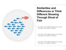 Similarities And Differences Or Think Different Showing Through Shoal Of Fish