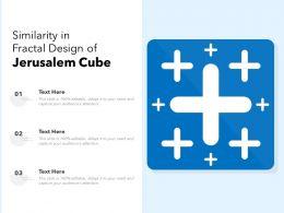 Similarity In Fractal Design Of Jerusalem Cube