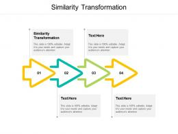 Similarity Transformation Ppt Powerpoint Presentation Slides Cpb