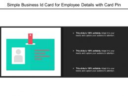 Simple Business Id Card For Employee Details With Card Pin