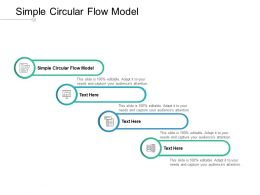 Simple Circular Flow Model Ppt Powerpoint Presentation Layouts Samples Cpb