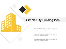 Simple City Building Icon