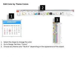 Simple Elegant Complete 2014 Calender Template And Powerpoint Slide For Planning