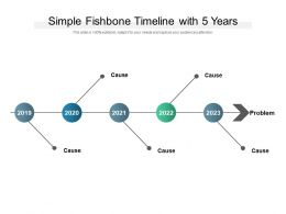 Simple Fishbone Timeline With 5 Years
