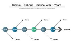 Simple Fishbone Timeline With 6 Years