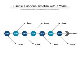 Simple Fishbone Timeline With 7 Years