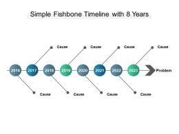 Simple Fishbone Timeline With 8 Years