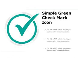 Simple Green Check Mark Icon