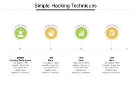 Simple Hacking Techniques Ppt Powerpoint Presentation Model Icon Cpb