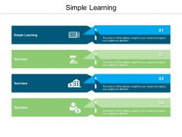 Simple Learning Ppt Powerpoint Presentation File Display Cpb