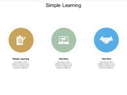 Simple Learning Ppt Powerpoint Presentation Inspiration Visual Aids Cpb