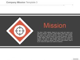 Simple Mission Template With Target In Red Box Ppt Slides
