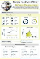 Simple One Page CMS For Website Management Presentation Report PPT PDF Document