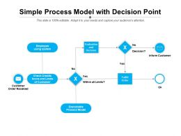 Simple Process Model With Decision Point