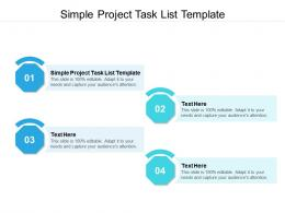 Simple Project Task List Template Ppt Powerpoint Presentation Model Slides Cpb