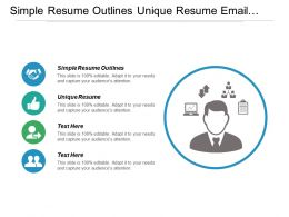 Simple Resume Outlines Unique Resume Email Task Management Cpb