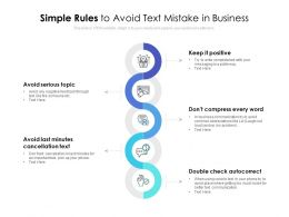Simple Rules To Avoid Text Mistake In Business
