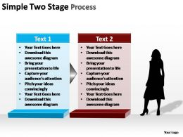 simple two stage process editable powerpoint slides templates