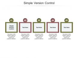 Simple Version Control Ppt Powerpoint Presentation Inspiration Deck Cpb