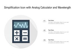 Simplification Icon With Analog Calculator And Wavelength