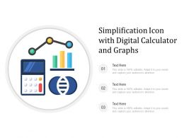 Simplification Icon With Digital Calculator And Graphs
