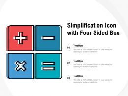 Simplification Icon With Four Sided Box