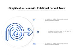 Simplification Icon With Rotational Curved Arrow