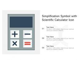 Simplification Symbol With Scientific Calculator Icon