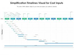 Simplification Timelines Visual For Cost Inputs Infographic Template