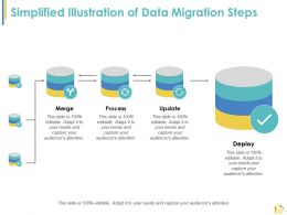 Simplified Illustration Of Data Migration Steps Ppt Slides Example Topics
