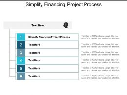 Simplify Financing Project Process Ppt Powerpoint Presentation Icon Background Cpb