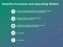Simplify Processes And Operating Models Foundation Ppt Powerpoint Presentation