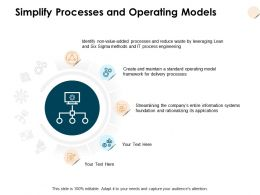 Simplify Processes And Operating Models Framework Ppt Powerpoint Presentation