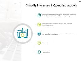 Simplify Processes And Operating Models Icons Ppt Powerpoint Presentation File Designs