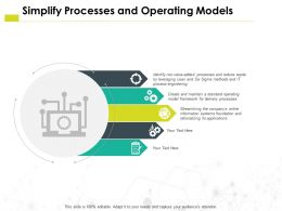 Simplify Processes And Operating Models Information H37 Ppt Powerpoint Presentation Slides