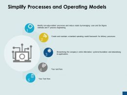 Simplify Processes And Operating Models Streamlining Processes Ppt Powerpoint Presentation Ideas Good