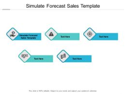 Simulate Forecast Sales Template Ppt Powerpoint Presentation Icon Cpb