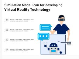 Simulation Model Icon For Developing Virtual Reality Technology
