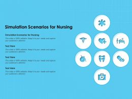 Simulation Scenarios For Nursing Ppt Powerpoint Presentation Model Information