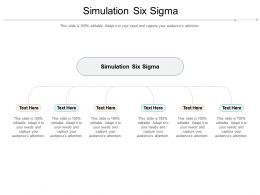 Simulation Six Sigma Ppt Powerpoint Presentation Layouts Objects Cpb