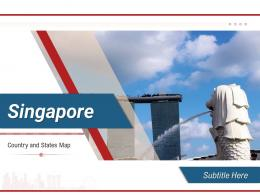 Singapore Country And States Map Powerpoint Template