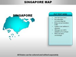 Singapore Country Powerpoint Maps