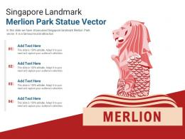 Singapore Landmark Merlion Park Statue Vector Powerpoint Presentation Ppt Template