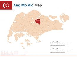 Singapore States Ang Mo Kio Map Powerpoint Presentation PPT Template