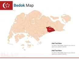 Singapore States Bedok Map Powerpoint Presentation PPT Template