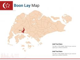 Singapore States Boon Lay Map Powerpoint Presentation PPT Template