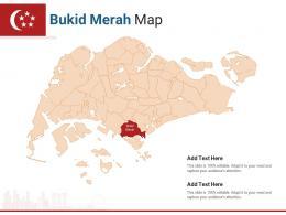 Singapore States Bukid Merah Map Powerpoint Presentation PPT Template