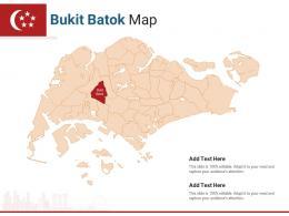 Singapore States Bukit Batok Map Powerpoint Presentation PPT Template