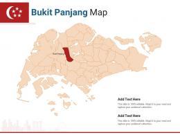 Singapore States Bukit Panjang Map Powerpoint Presentation PPT Template