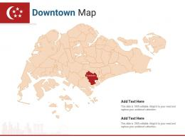 Singapore States Downtown Map Powerpoint Presentation PPT Template